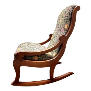 Charming and Comfortable Antique Rocking Chair For Sale
