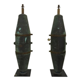 Water Tank Floor Lamps - a Pair