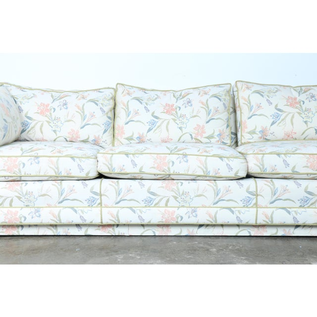 Mid-Century Modern Floral Sofa - Image 4 of 10