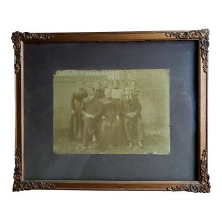 Circa 1880 American Victorian Family Portrait Photograph in Gilt Wood Frame For Sale