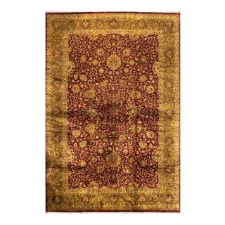 Modern Apadana Red and Beige All-Over Persian India Rug, 12' x 17'9""
