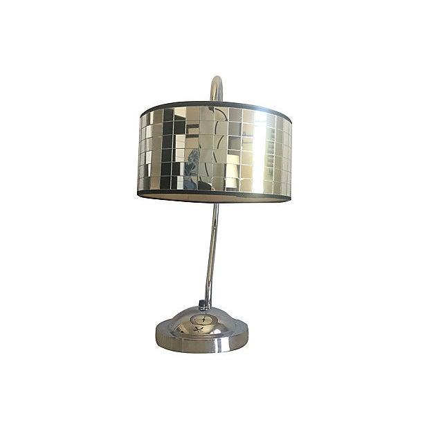 Black Hollywood Regency Lamp & Shade For Sale - Image 8 of 10