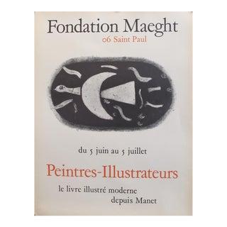 1960 Original Exhibition Poster, Peintres-Illustrateurs Fondation Maeght For Sale