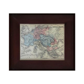Antique Framed European Map For Sale