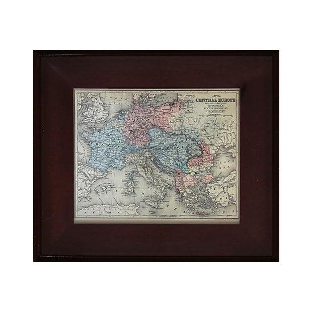 Antique Framed European Map For Sale