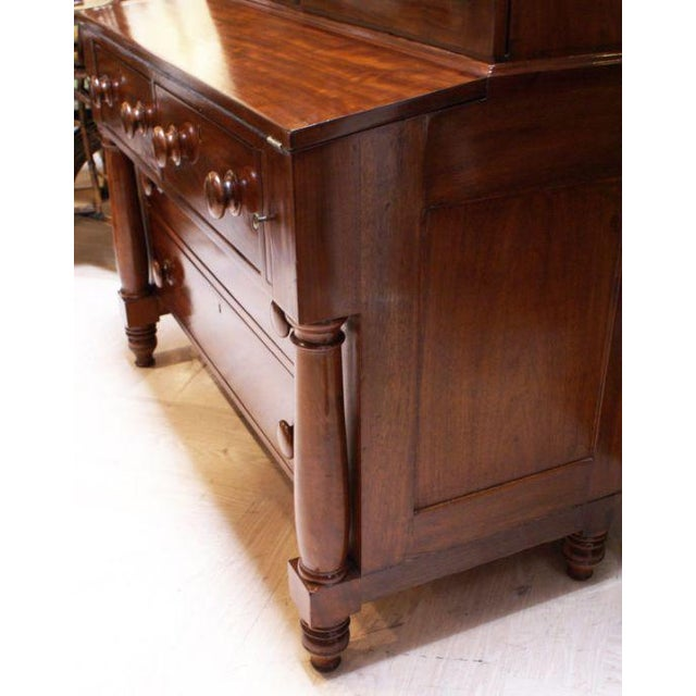 19th Century American Empire Gothic Secretary Chest For Sale - Image 4 of 5