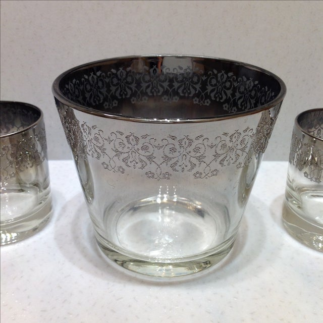 Mid-Century Modern Mid-Century Silver Ombré Cocktail Set - Set of 3 For Sale - Image 3 of 7