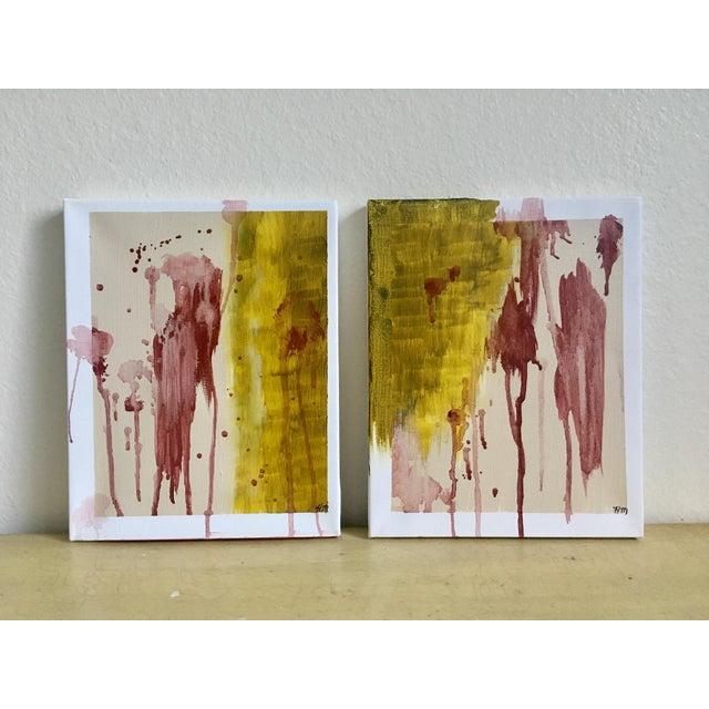 "Modern Abstract Bohemia, Original Art - Pair ""Hiraeth"" - Image 8 of 8"