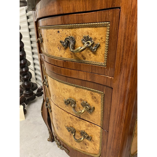 Vintage French Marble Top Nightstands - a Pair For Sale - Image 10 of 12