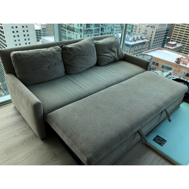2010s Modern Crate & Barrel Queen Sleeper Sofa For Sale - Image 5 of 6