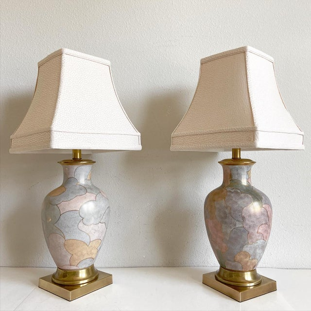 1960s Frederick Cooper Lamps & Shades - a Pair For Sale - Image 9 of 9