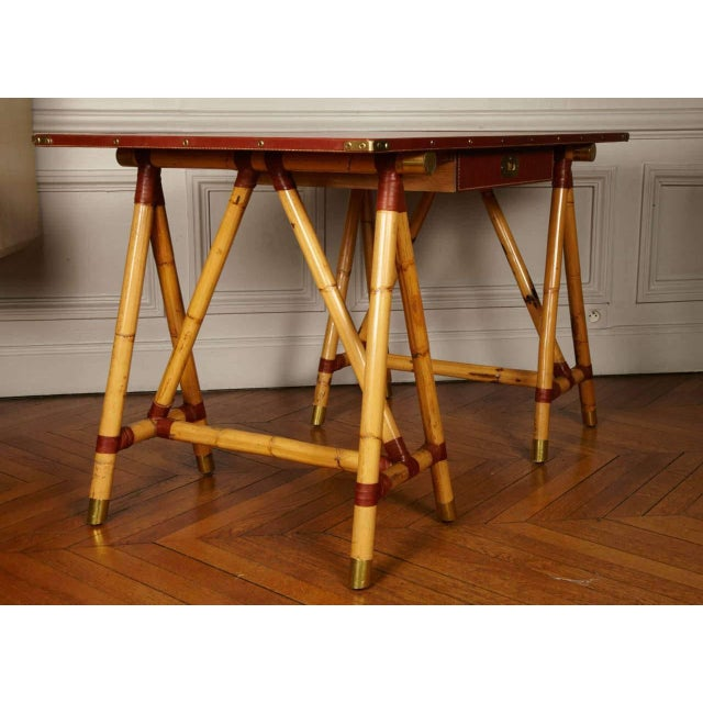Wood 1950s Desk by Jacques Adnet For Sale - Image 7 of 10