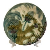 Image of Majolica Luneville Asparagus Plate For Sale