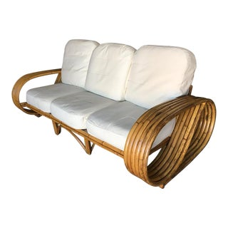 "Restored 6 Strand ""Infinity"" Arm Lounge Chair Sofa With Arched Base For Sale"