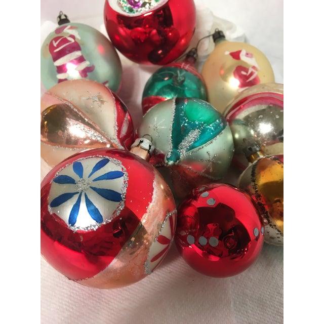 Vintage Glass Christmas Ornaments Set of 18 - Image 4 of 5