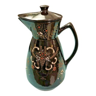 1940s Vintage Moriage Redware Coffee/Tea Pot From Japan For Sale
