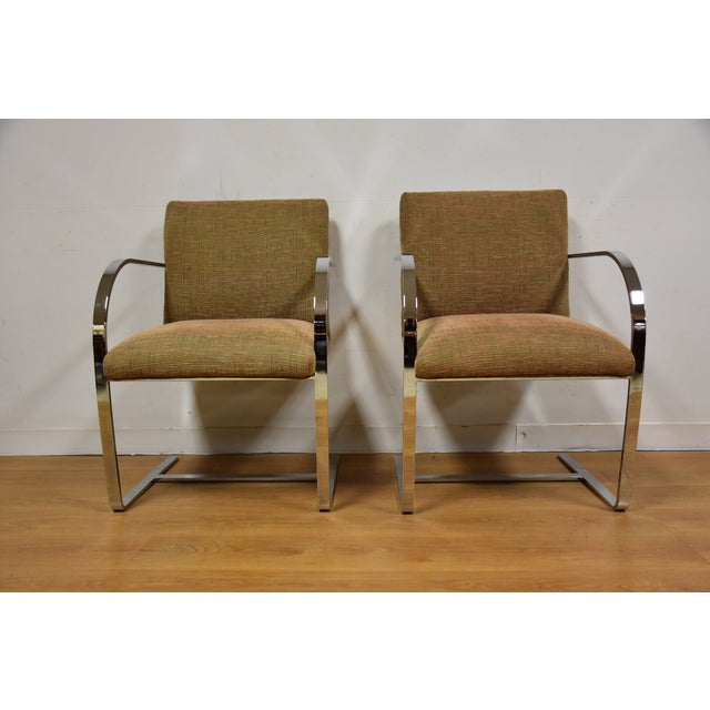 Cy Mann Chrome Flat Bar Lounge Chairs - a Pair - Image 6 of 9