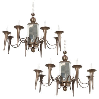 French Art Moderne Chandeliers - a Pair For Sale