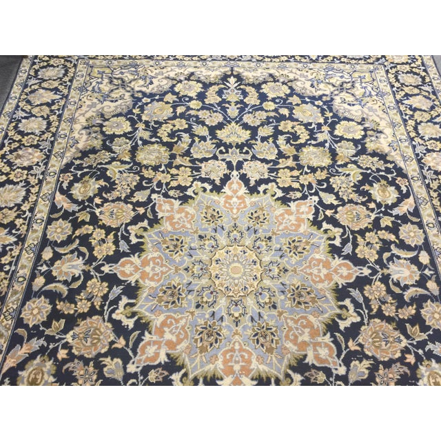 "Vintage Tabriz Rug 10' 9.5""x7' 10"" For Sale - Image 4 of 10"