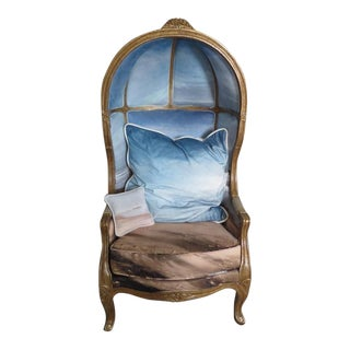 Custom Ocean Scene Balloon Back Chair