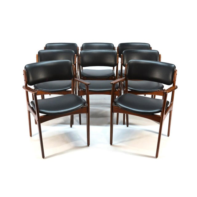 Erik Buck Model 49 Rosewood Dining Chairs - Set of 8 - Image 3 of 10