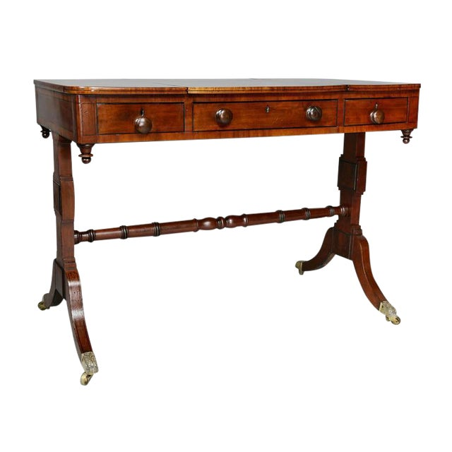 Unusual Regency Mahogany Games Table For Sale