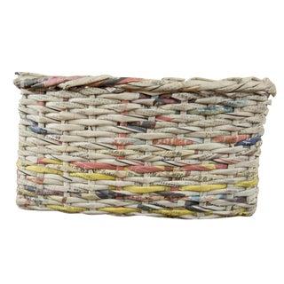 Vintage Japanese Newspaper Basket