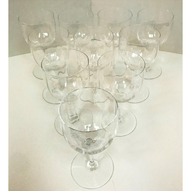 """Like new! This is a beautiful set of 10 Baccarat Crystal wine glasses. Each is stamped on the bottom """"Baccarat France.""""..."""