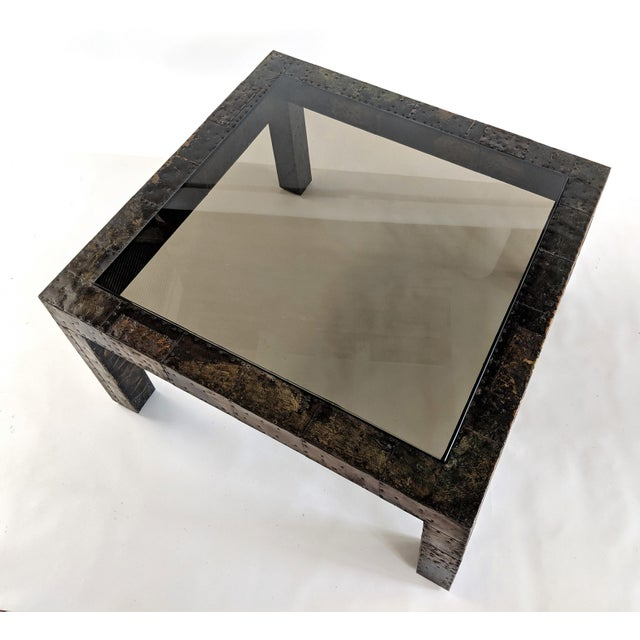 1960s Mid-Century Modern Paul Evans Brutalist Mixed Metals Patchwork Coffee Table For Sale In Miami - Image 6 of 11