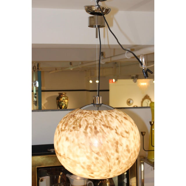 Mid-Century Modern Murano Glass Large Pendant For Sale - Image 3 of 13