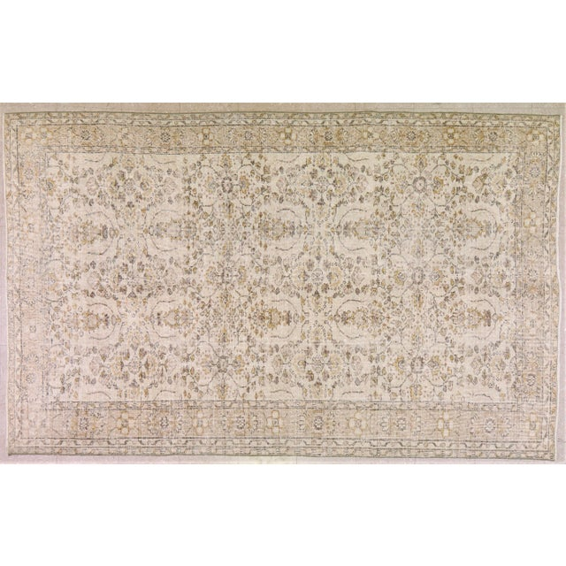 "Textile Vintage Turkish Rug,5'9""x9'4"" For Sale - Image 7 of 7"