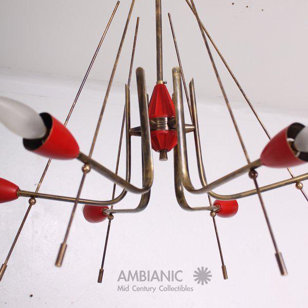 Aluminum Mid-Century Modern Italian Sputnik Chandelier For Sale - Image 7 of 10