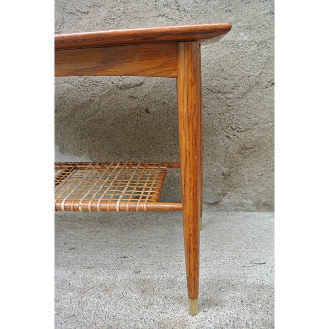 Wicker Folke Ohlsson Two-Tier Table for Dux For Sale - Image 7 of 8