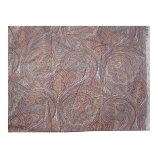 Clare Paisley Cotton Fabric- 3 Yards For Sale