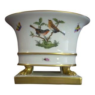 1950s Vintage Herend Rothschild Bird Cachepot For Sale
