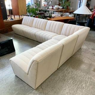 Large Wool Tufted Modular Sectional Sofa in the Style of Steve Chase Preview