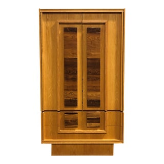 Vintage Custom Made Brutalist Armoire For Sale