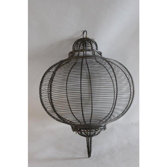 West Elm Circular Hanging Lantern - Image 3 of 8