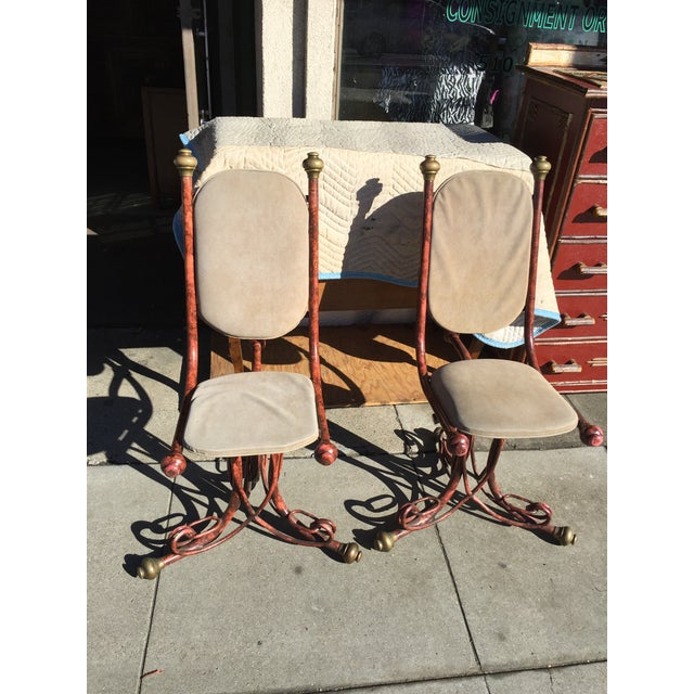 Arthur Court Brutalist Chairs - a Pair - Image 2 of 6