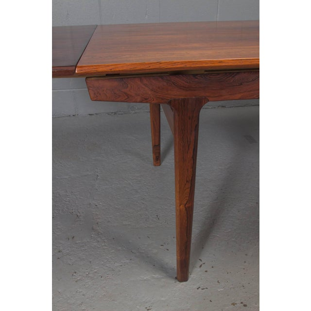 Brown Danish Modern Rosewood Extension Dining Table For Sale - Image 8 of 11