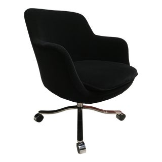 Zographos Ch6 Swiveling Conference Chair in Mohair Signed For Sale