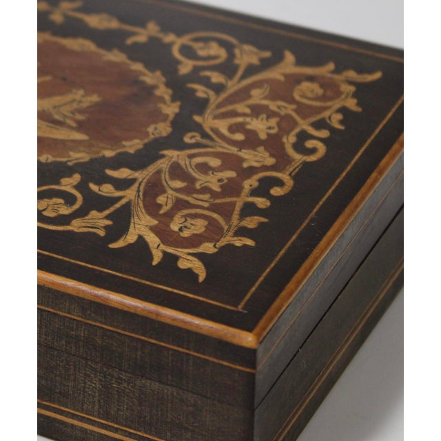 19th Century French Inlay Wooden Box For Sale - Image 9 of 13