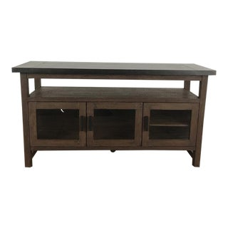 Contemporary Crate and Barrel Galvin Wood Sideboard For Sale