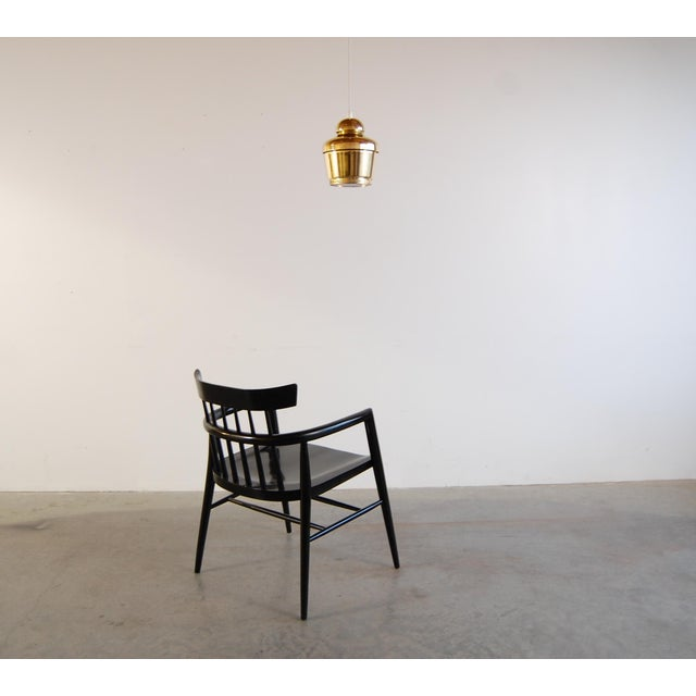 Black Modernist Comb Back Windsor Chair by Paul McCobb For Sale - Image 8 of 10