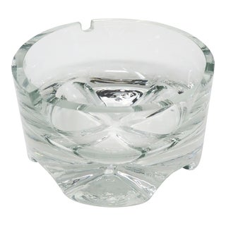 Vintage Krosno Poland Crystal Ashtray For Sale