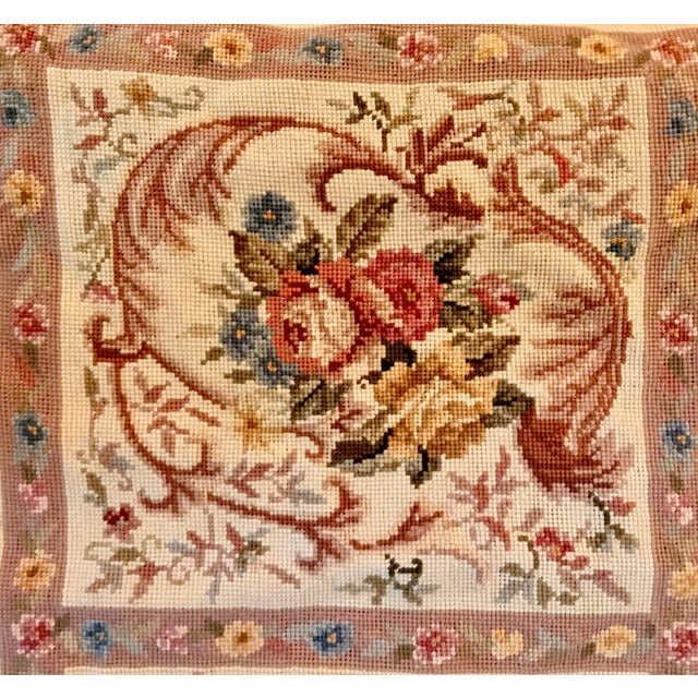 French Aubusson Needlepoint Rug - 8′6″ × 11′6″ For Sale - Image 4 of 11
