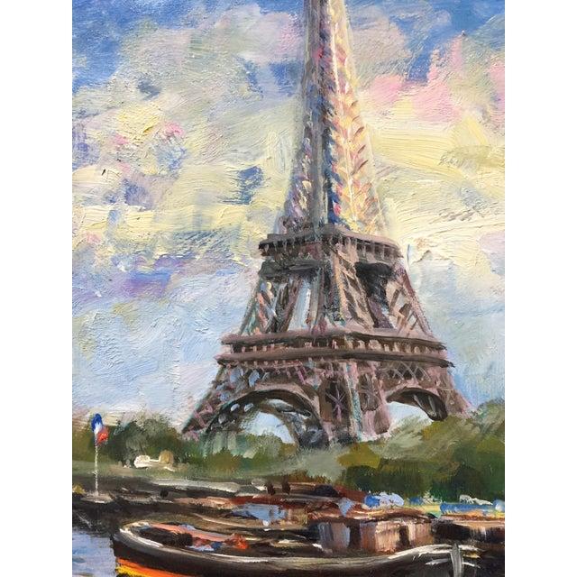 Original Eiffel Tower Paris Painting by Nino Pippa For Sale - Image 4 of 5