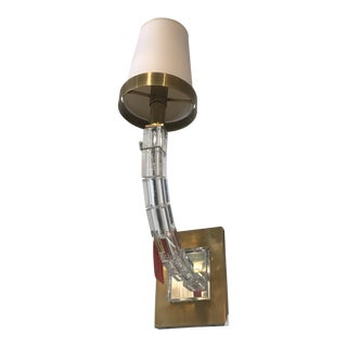 Sconce Cube Gold Natural Paper Shade For Sale