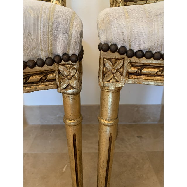 French Antique French Neoclassical Louis XVI Lyre Chairs - a Pair For Sale - Image 3 of 13
