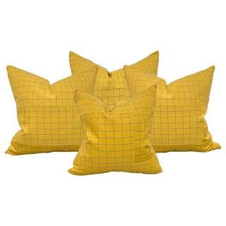Set of Four Japanese Silk Kimono Pillows For Sale